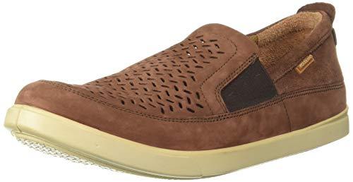 Woodland Men's Leather Moccasin-5 UK (39 EU) (6 US) (GC 2570117HK_Rust Brown)