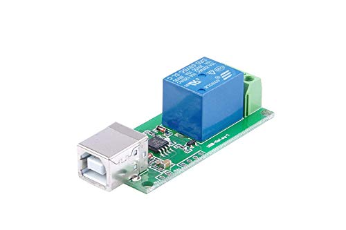 ARCELI SRD-05VDC-SL-C Módulo de relé de 5V de 1 vía Controlador Gratuito Interruptor de Control USB Control Inteligente de PC (5V de 1 Canal)