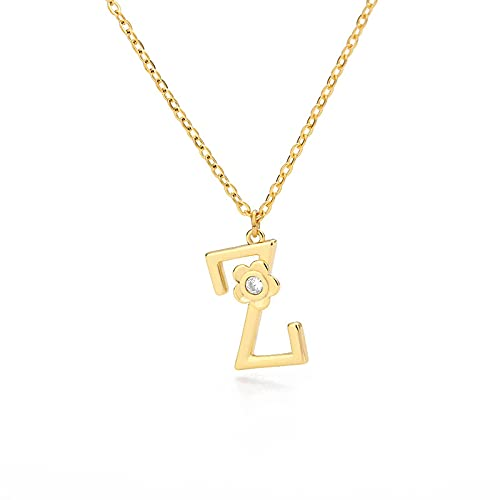yuanyuan Letter Initial Necklace for Women Golden Personalized Girls Tiny Initial Alphabet Love Choker Necklace Z