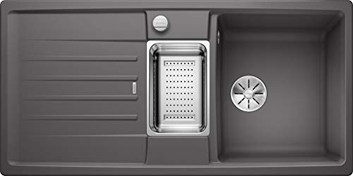 Blanco 524931 Lexa 6 S Küchenspüle, felsgrau, 60 cm Unterschrank