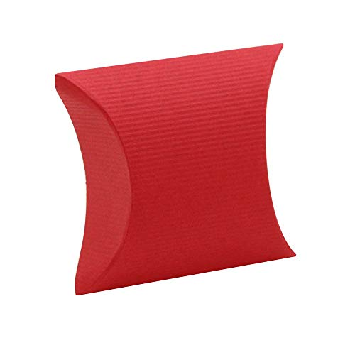tumundo Kartonage Falt-Schachtel Geschenk-Box Fix-Box Karton Gutschein-Box Verpackung Aufbewahrung Etui Pillow-Box Rot, Variante:Modell 29-1 Stück