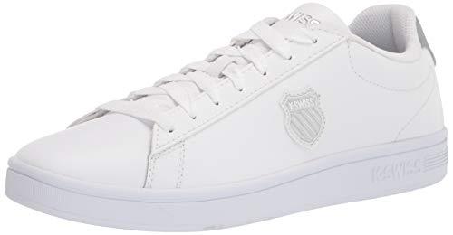 K-Swiss Damen Court Shield Sneaker, White/Silver, 39 EU