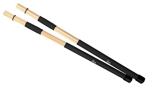 XDrum XR1R Floppy Sticks (Jazzbesen, Drumsticks, Rods, 19 Stäbe, verstärkter Griff, Länge 40cm)