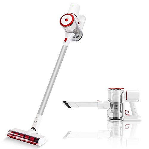 Cordless Vacuum Cleaner,22Kpa Powerful Strong Suction 350W Brushless Motor 4 in 1 Stick and Handheld Vacuum for Pet Hair Carpet Hardwood Floor,Detachable Battery 40min Runtime,Lightweight 1.9K