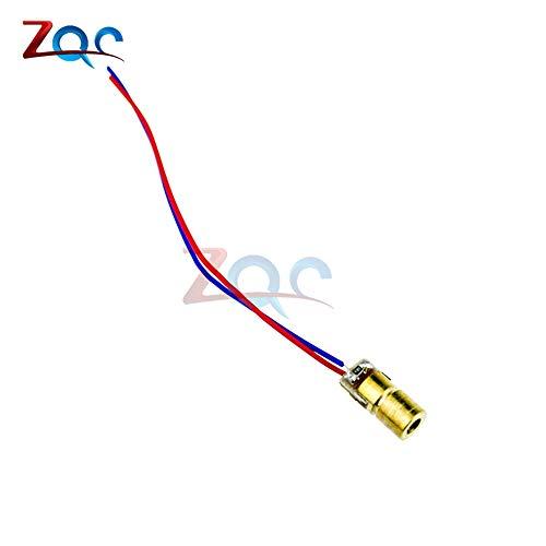 10Pcs 5V 650nm 5mW Laser red dot Modul Red Laser Sight Red Laserdiode Laserpointer heißer Verkauf