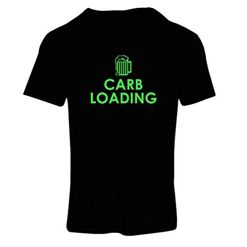 lepni.me T-Shirt Femme Chargement de Glucides Entraînement Physique, Levage de Poids, Humour Sarcastique (XX-Large Noir Verte)