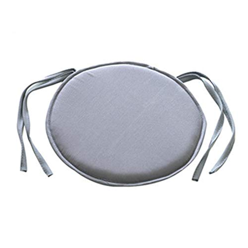 GeKLok Round Seat Cushion, Home Chair Cushion with Ties, Kitchen Dining Removable Cover for Indoor Outdoor Stool