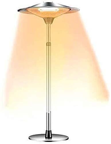 FANPING Calentador de Patio, Calentador eléctrica independiente de carbono Altura ajustable Baño Calentador 3 Ajustes de calor 1200W / 1800W / 3000W protección IP44 for el jardín exterior de acero ino