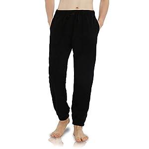 ルームパンツ メンズ パジャマパンツ ズボン セシール ルームパンツ ロングパンツ ゆったり 部屋着 ナイトウェア 大きいサイズ 冬 春 ブラック XL