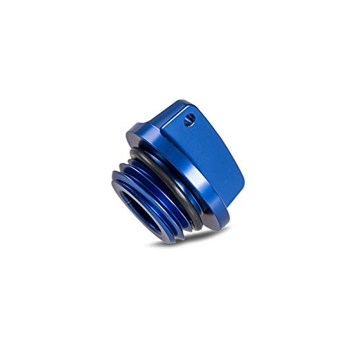 CHENWEI- Tapa de llenado de Aceite de Enchufe for Yamaha FZ07 MT07 YZF R1 R3 R6 R25 FZ1 FZ6 FZ6R FZ400 FZS600 FZS1000 Fazer FZR FZX 250 XJR400 XJR1200 (Color : Blue)