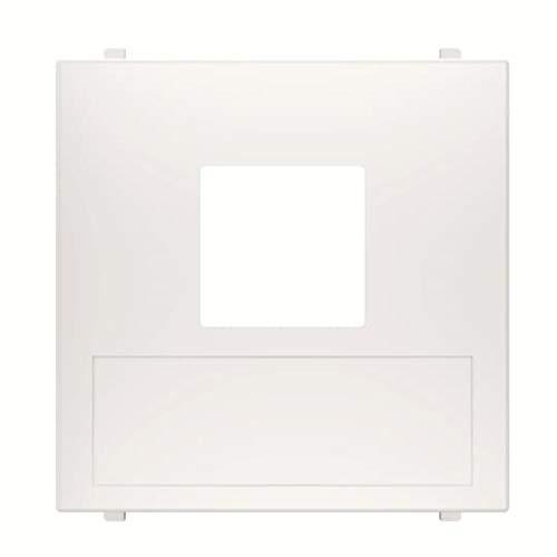 Placa de cubierta para salida de datos de 1 elemento, 2 x 4,4 x 4,4 centímetros, color blanco (referencia: N2216.1 BL)