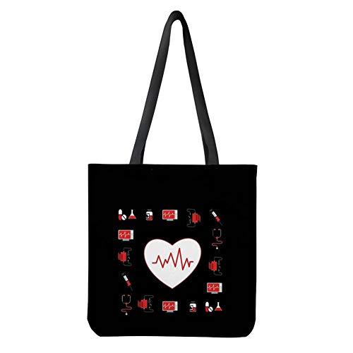 UOIMAG - Bolsa de hombro para mujer, diseño de corazón