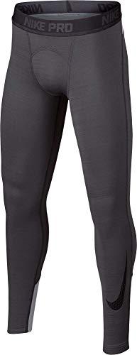 Nike Boy's Dri-FIT Cold Weather Compression Leggings (Dark Grey, Large)