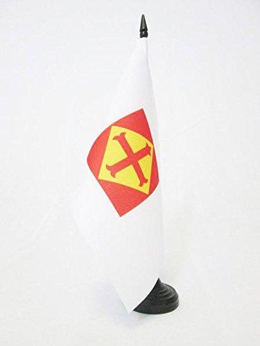 AZ FLAG Bandera de Mesa de la CONFEDERACIÓN ESPAÑOLA DE DERECHAS AUTÓNOMAS 21x14cm - BANDERINA de DESPACHO DE LA CEDA 14 x 21 cm