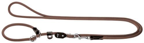 HUNTER Freestyle Retrieverleine, Tau, mit integrierter Halsung, robust, wetterfest, 1,0/260 cm, braun
