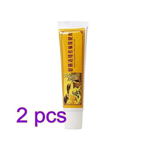 Healifty crema para aliviar el dolor ungüento de bálsamo almizclado para la artritis reumatoide alivio del dolor de espalda 2 piezas