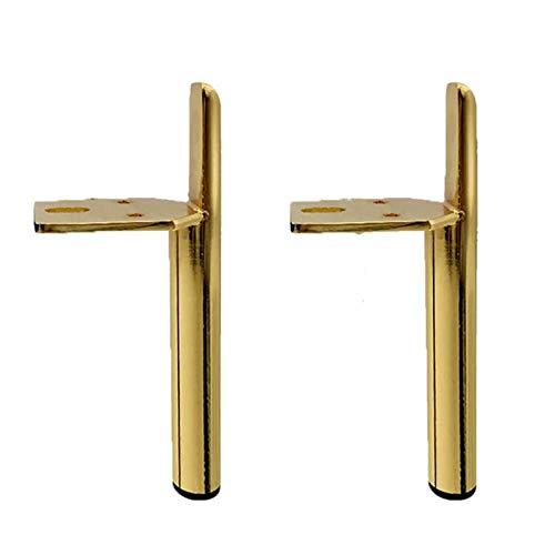 XBSXP 2er Set Möbelfüße, Metallstütze Möbelbeine Ersatzstahl Tisch Schlafsofa Schwer rutschfeste Moderne verschleißfeste Möbelbeine (schwarz 18 cm),Gold,15cm