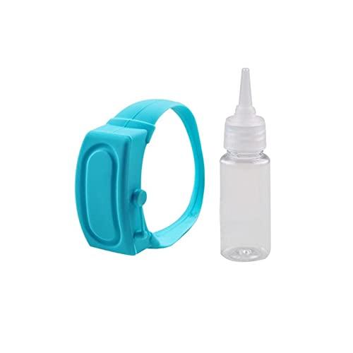 DUNLIN Pulsera De Dispensador De Gel Hidroalcohólicos Mano Desinfectante Pulsera Niños Desinfectante Antibacteriano Reloj Hidroolico 10ml Muñeca (Color : Blue)