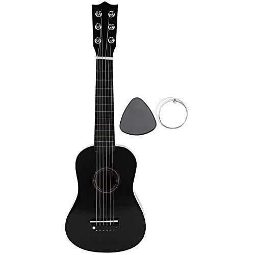 Guitarra Acústica Infantil, Negro 21 pulgadas Juguete Guitarra niños de 8 a 12 años