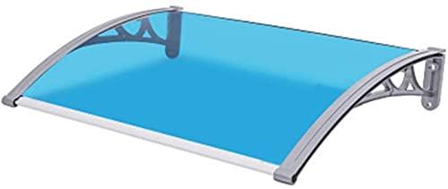 MCE Toldo casero Aluminio Aleación de Lluvia Toldo al Aire Libre silencioso Lluvia Toldo de toldos Toldos Tabos (Color : Blue, Size : 100x120cm)