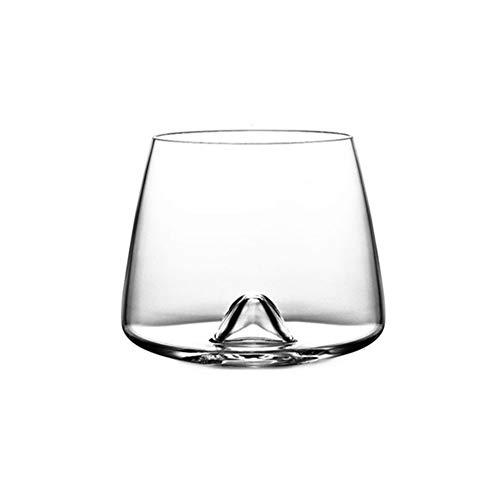 Z-Y Wijnglazen rood Rocks Crystal Scotch Whisky glas glazen Tumbler Eddy Bottom Swirl Designer Kop van de Wijn for Bar Whiskey Shot Glass #Z (Capacity : 380ml, Color : Crystal Eddy Glass)