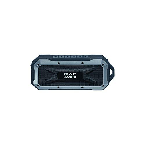 Mac Audio BT Wild 401 | Bluetooth-Lautsprecher für iOS und Android | 8 Stunden Akkulaufzeit | zusätzlicher Bassradiator - schwarz/silber