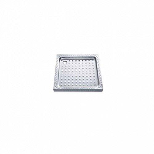 Simex doccia vasca in acciaio inox spazzolato–Montaggio a parete–Disponibile in 2misure, 30 x 800 x 800