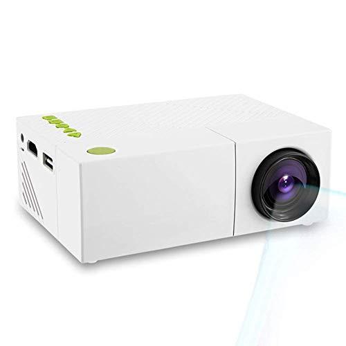 LQQZZZ Proyector LED, Mini Proyector Portátil 1080P con Batería Recargable Incorporada Interfaz USB/AV/HDMI Interfaz HD Fiesta Familiar Fiesta De Juegos