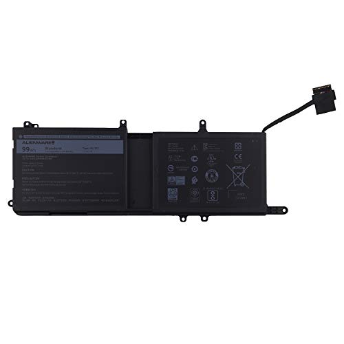Vvsialeek 9NJM1 - Batteria di ricambio per computer portatile Alienware 15 R3 17 R4 Series Notebook MG2YH