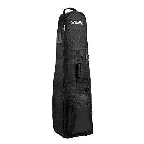 LONGCHAO Golf Travel Cover- Foldable Golf Bag Portable Golf Travel Bag with Wheel Lightweight Oxford Cloth (Black)