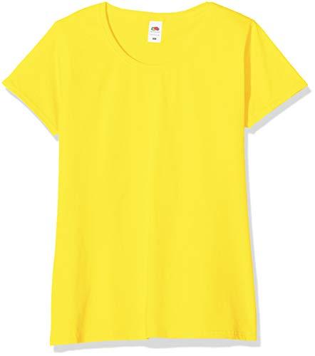 Fruit of the Loom Valueweight T-Shirt 5 Pack Camiseta, Amarillo (Yellow K2), XS (Pack de 5) para Mujer