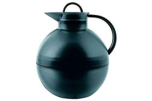 alfi Kugel, Thermoskanne Kunststoff anthrazit 0,94l mit alfiDur Vakuum-Hartglaseinsatz, Isolierkanne hält 12 Stunden heiß, ideal als Kaffeekanne oder als Teekanne - 0115.024.094