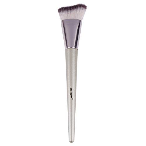 Anmyox morbido viso mento, per fondotinta Premium sintetico cosmetici curve Kabuki angolato fondazione pennello per polvere liquido o crema, beauty makeup Tool