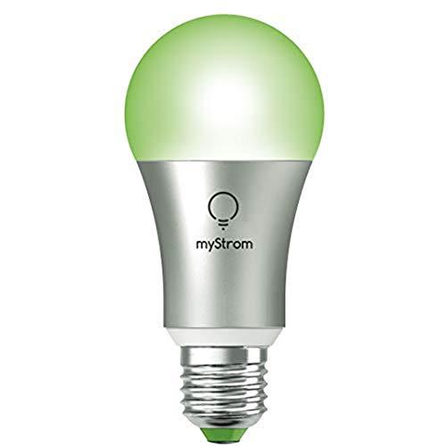 myStrom WiFi Bulb LED Lampe 6W / 600 lm (45W) E27, keine Bridge nötig, App, Sprachsteuerung mit Alexa & Google Home, IFTTT, dimmbar, 16 Mio Farben