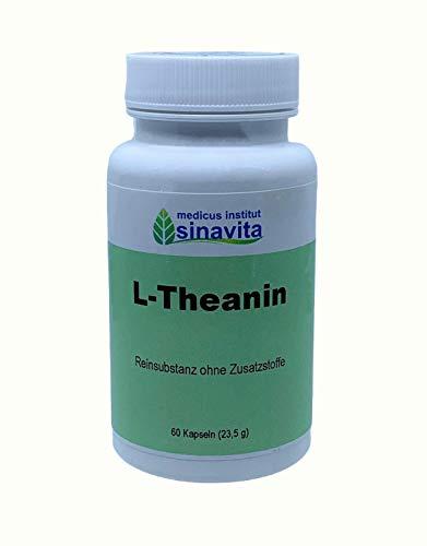 L-Theanin, 60 Kps, Reinsubstanz ohne Zusatzstoffe, vegetarische Kapselhülle, deutsche Produktion