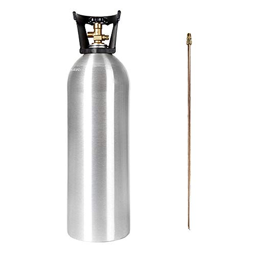 20 lb CO2 Tank New Aluminum CGA320 with SIPHON TUBE