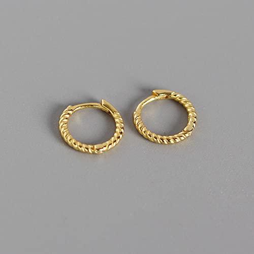 YFZCLYZAXET Pendientes Mujer Pendientes Casuales De Moda Plata De Ley 925 Pendientes Giratorios Geométricos Anillo Pendientes Circulares Pendientes Simples-Pequeño Gold_925 Silver