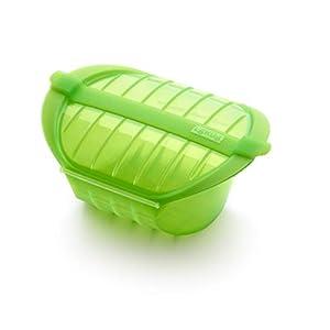Recipiente silicona para cocinar papillote, Recetario de obsequio – color verde, rectangular – tamaño familiar – para horno y microondas – capacidad de 2,5 litro - Garantía Ibili: Amazon.es: Hogar
