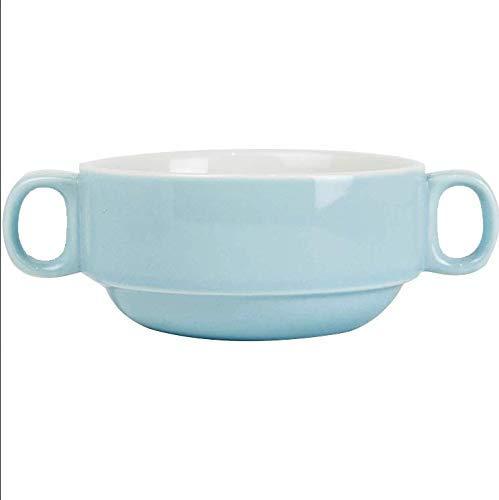 Nuokix Ensalada de Placas de cerámica vajilla Japonesa Binaural Guiso Horno Tazón Risotto Frutero Inicio 1 Pack vajilla vajilla