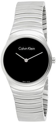 Calvin Klein Damen Analog Quarz Uhr mit Edelstahl Armband K8A23141