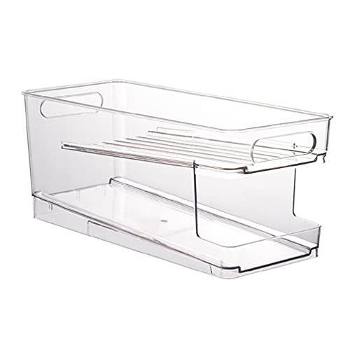 mcbeitrty Contenedores organizador de refrigerador, dispensador de latas de soda de plástico transparente conservado para almacenamiento para nevera, gabinetes de cocina