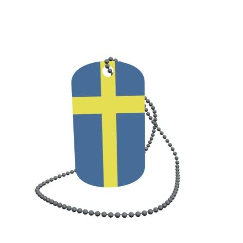 Dog Tag - Targhetta identificativa ID Tag sulla catena della Svezia, 30 x 50 mm