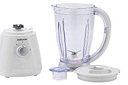 Create smoothies, soups and sauces in seconds with this Cookworks blender. Its pulse function ensures you get the smoothest of smoothies and the safety lock keeps the mixture securely inside. Cram it full of leafy veg and luscious fruit for a bit of ...