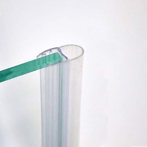 220cm - Guarnizione box doccia di ricambio, verticale, trasparente a Palloncino morbido da 9mm, adatta per vetro 8mm-GPV6 8