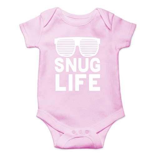 Snug Life - Hip Hop Funny Parody - Coolest Baby Ever - Cute One-Piece Infant Baby Bodysuit (Newborn, Pink)