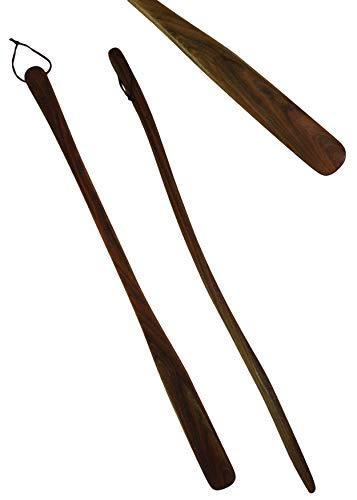 Schuhanzieher'Joe' 70 cm lang aus Holz, Schuhlöffel Walnussholz mit Bienenwachs und Orangenöl behandelt