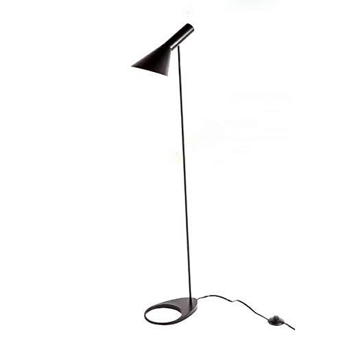 WUYUESUN Post-Modern Demmark - Lámpara de pie con diseño E27 LED de metal, compatible con iluminación de sala de estar, dormitorio (FD-55) (color de la pantalla: negro)