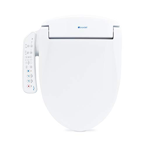 Brondell Swash SE400 Seat, Fits Elongated Toilets, White – Bidet – Oscillating Stainless-Steel Nozzle, Warm Air Dryer, Ambient Nightlight