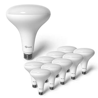 SunLake Lighting 10 Pack BR40 LED Light Bulb, 14W=85W, Dimmable, 3000K Warm White, E26 Base, Dimmable, Energy Efficient Indoor LED Flood Light Bulb for Cans - UL & Energy Star