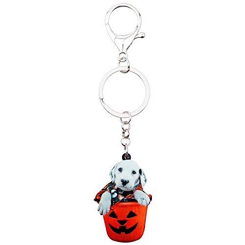 GPZEDCDB Schlüsselanhänger Schlüsselring Acryl Halloween Süße Labrador Hund Schlüsselanhänger Kostüme Schmuck Für Frauen Mädchen Pet Lovers Bag Auto Charms Schmuck